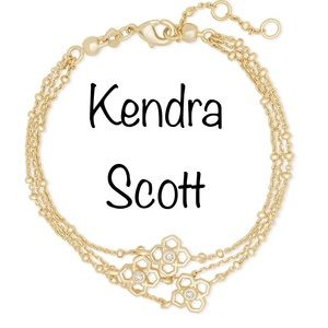 NWT Kendra Scott Gold Rue Multistrand Bracelet